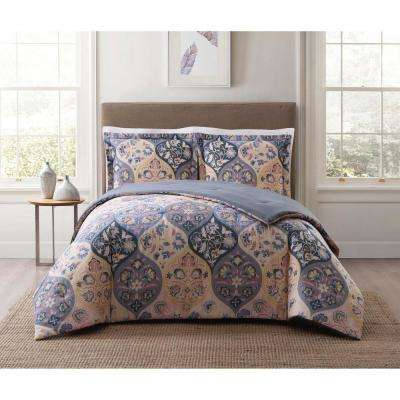 Justine Ogee Gray Twin XL Comforter Set
