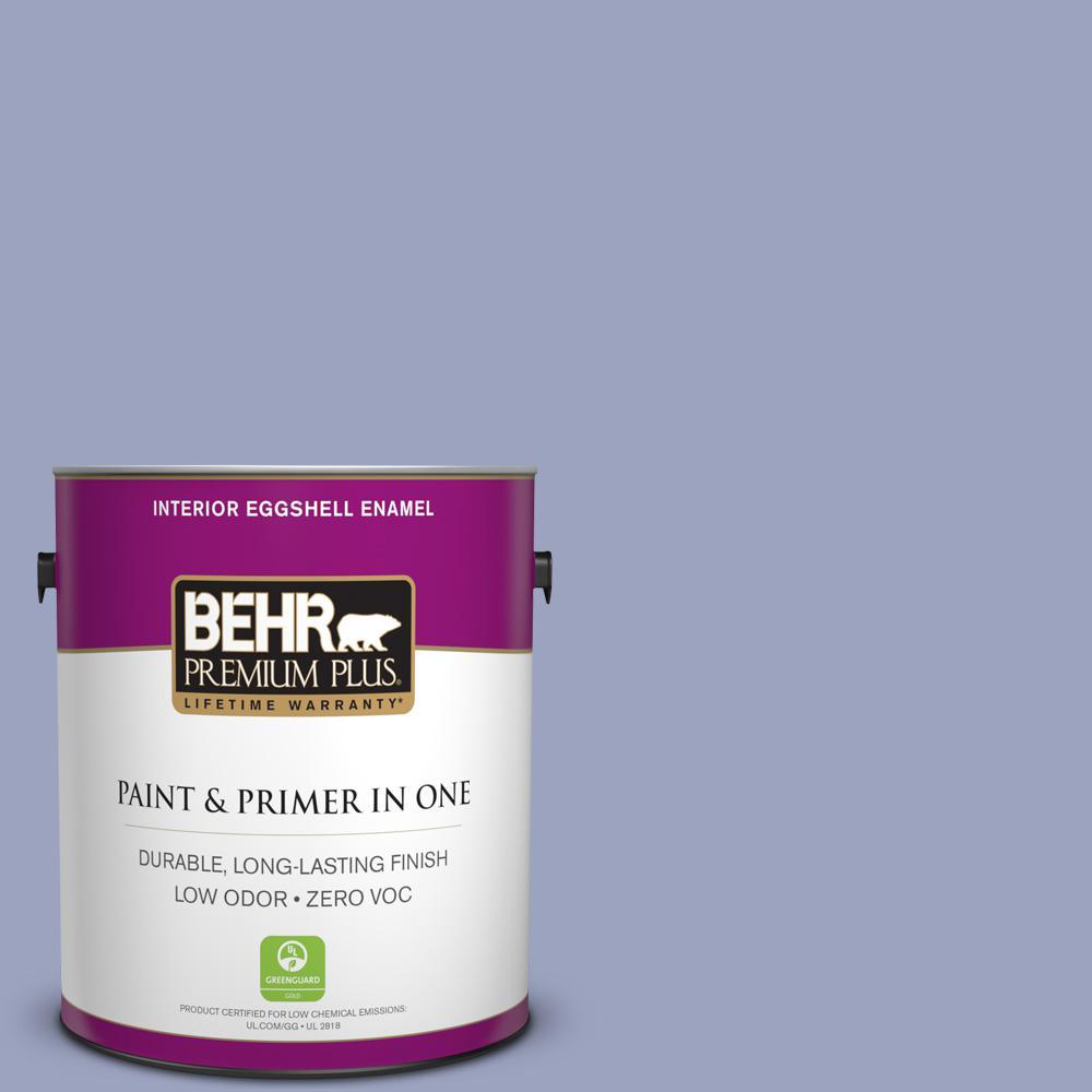 BEHR Premium Plus 1-gal. #620D-4 Veranda Iris Zero VOC Eggshell Enamel Interior Paint