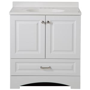Glacier Bay Lancaster 30 inch W x 19 inch D Bath Vanity and Vanity Top in White by Glacier Bay