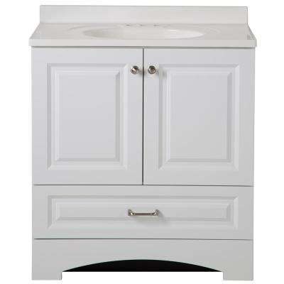 Lancaster 30 in. W x 19 in. D Bath Vanity and Vanity Top in White