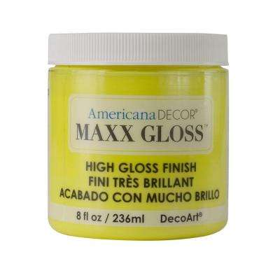 Americana Decor Maxx Gloss 8 oz. Lemon Spritzer Paint