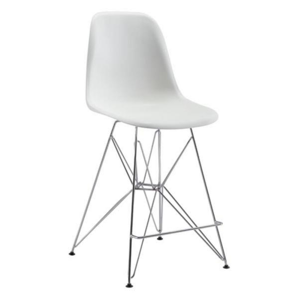 Julia White Polypropylene Counter Chair