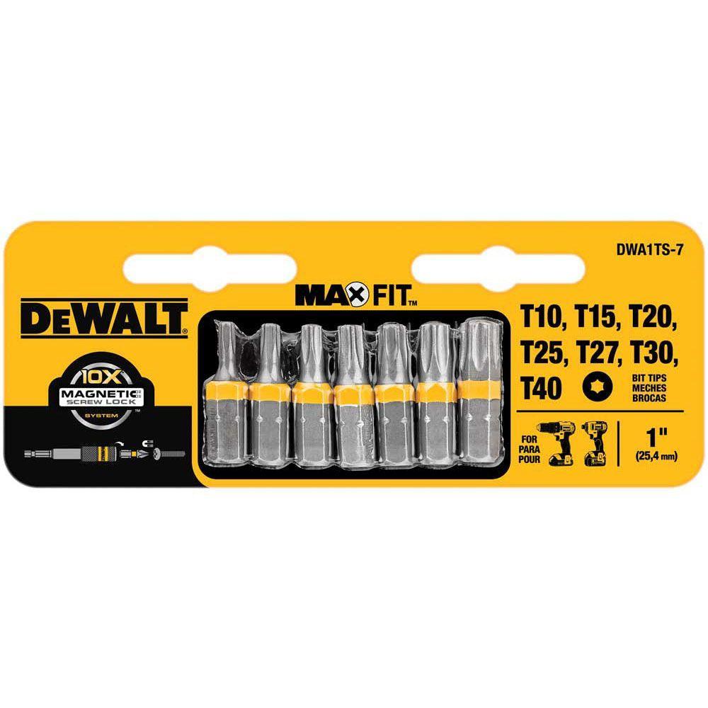 Dewalt 1 inch Torx Security Drill Bit Tip Set (7-Piece) by DEWALT