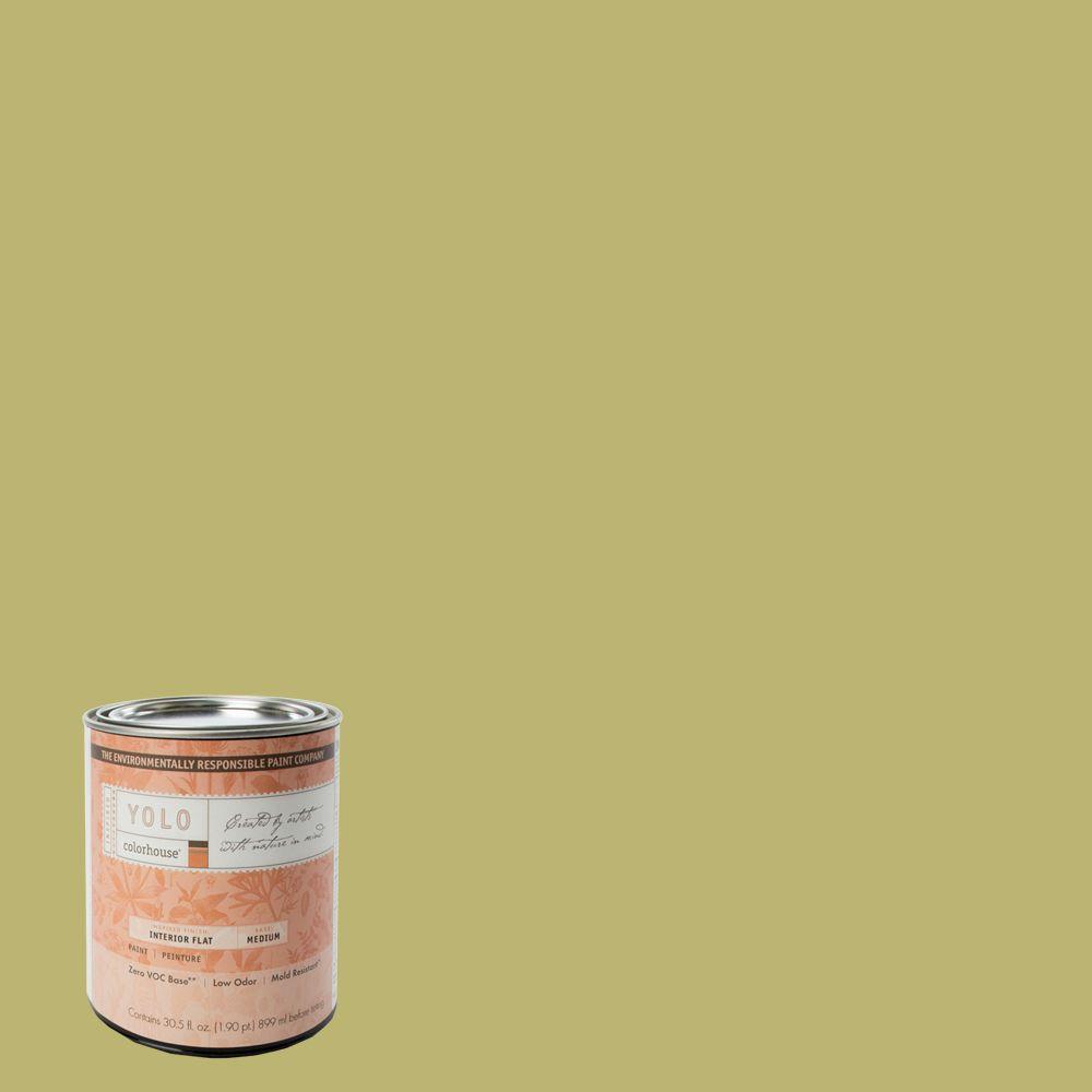 YOLO Colorhouse 1-Qt. Leaf .04 Flat Interior Paint-DISCONTINUED