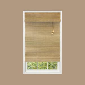 Home Decorators Collection Natural Multi Weave Bamboo Roman Shade 23 In W X 72 In L Actual