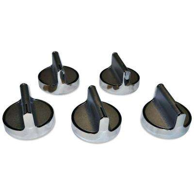 Knob Kit in Stainless Steel (5-Pack)