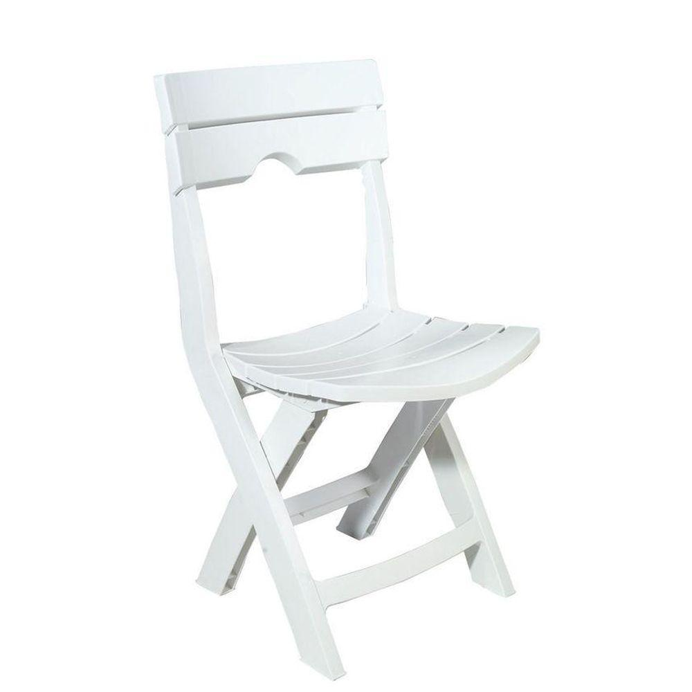 Adams Manufacturing Quik-Fold White Patio Chair