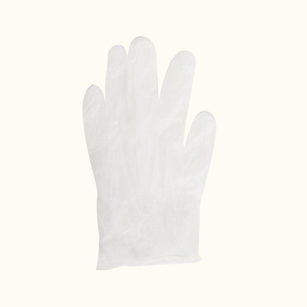Trimaco SuperTuff White Vinyl Gloves - Fits Most (10-Pack)