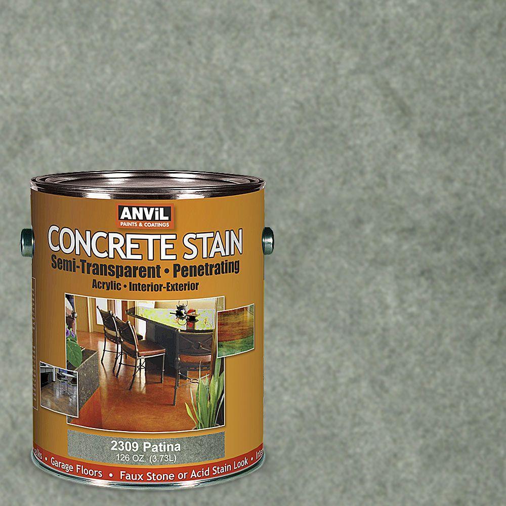anvil 1 gal patina semi transparent translucent concrete stain