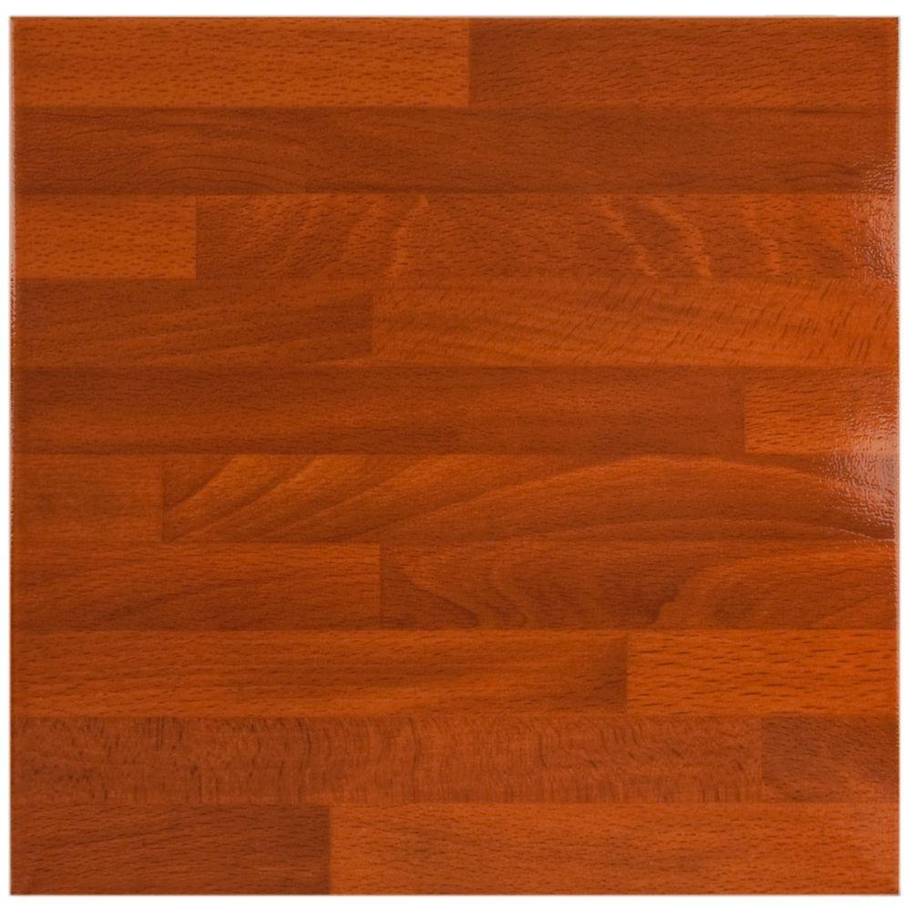 Merola Tile Teka 17-3/4 in. x 17-3/4 in. Caoba Brillo Ceramic Floor and Wall Tile-DISCONTINUED