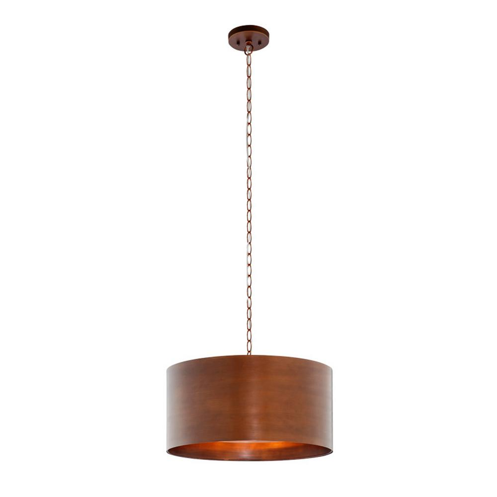 Hampton Bay 3 Light Vintage Br Metal Pendant