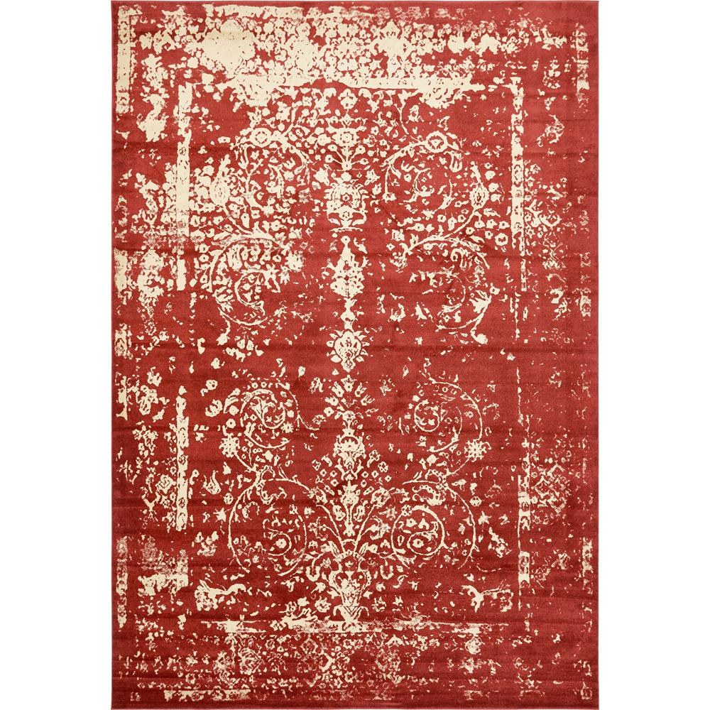 Unique Loom Melbourne Red 10 X 14 5 Rug