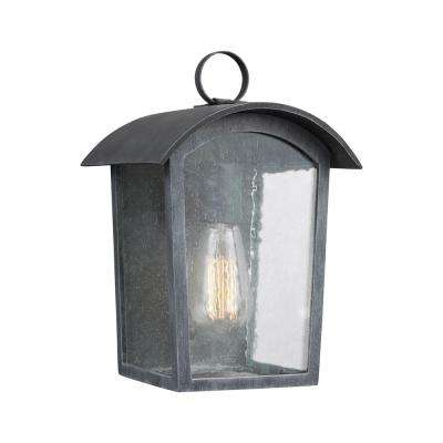 Hodges 1-Light Ash Black Outdoor Wall Lantern