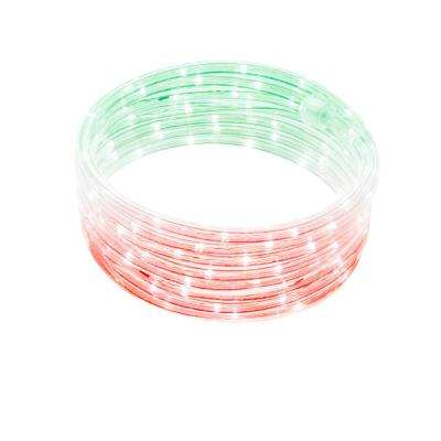 16 ft. Integrated LED Color Control Red White Green Rope Light