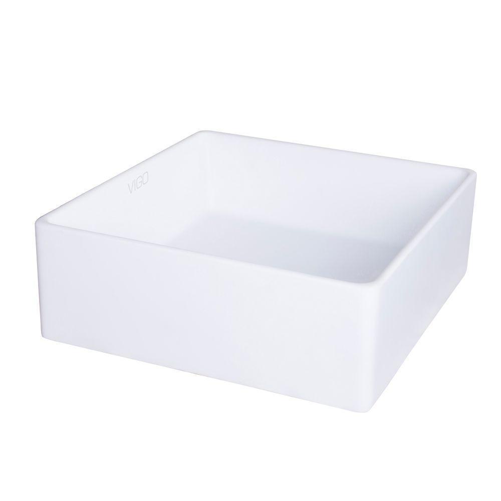 VIGO VIGO Dianthus Matte Stone Vessel Bathroom Sink VG04001   The Home Depot
