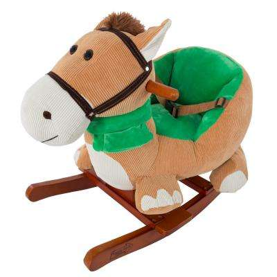 Plush Browns Rocking Horse with Seat
