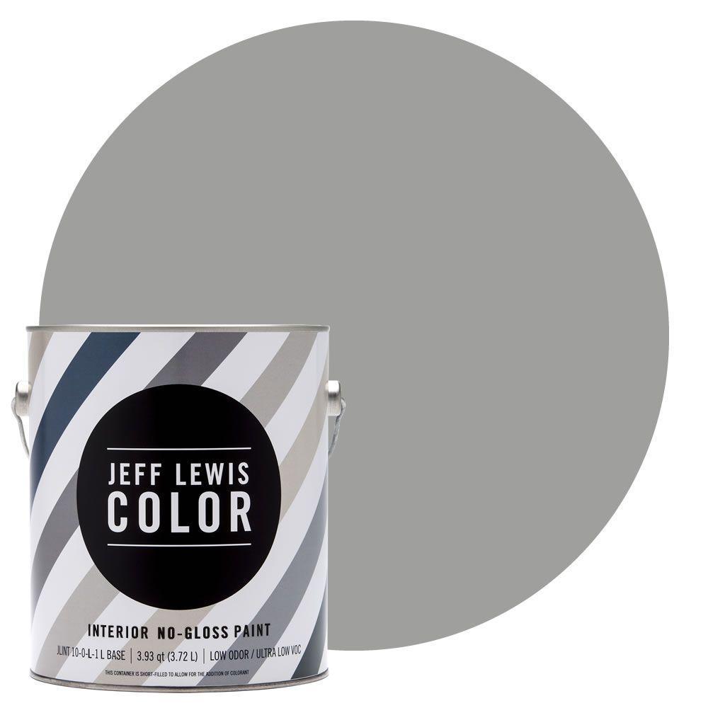 1-gal. #JLC414 Gravel No-Gloss Ultra-Low VOC Interior Paint