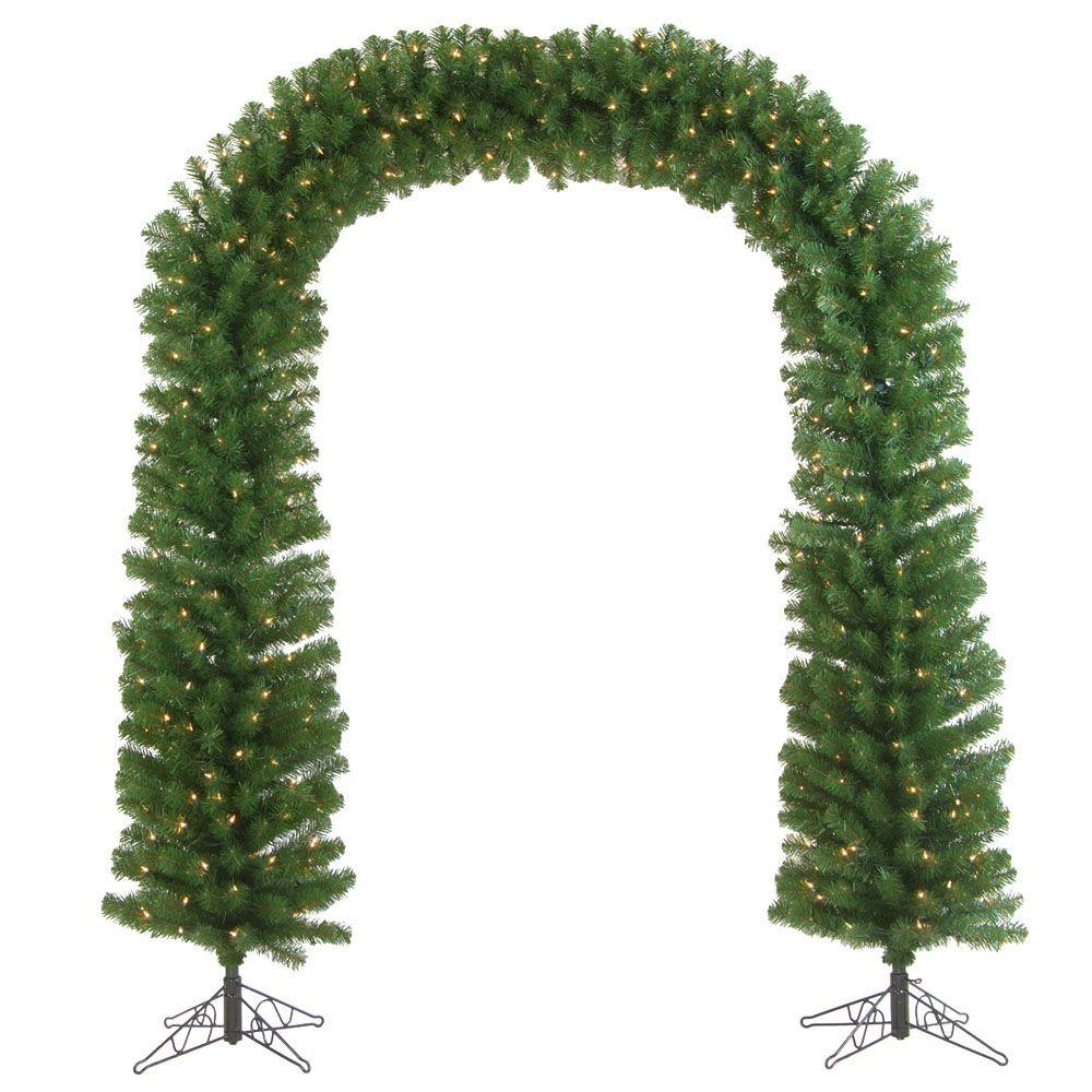 Sterling 7.5 ft. Pre-Lit Pine Artificial Tree Arch with Clear Lights