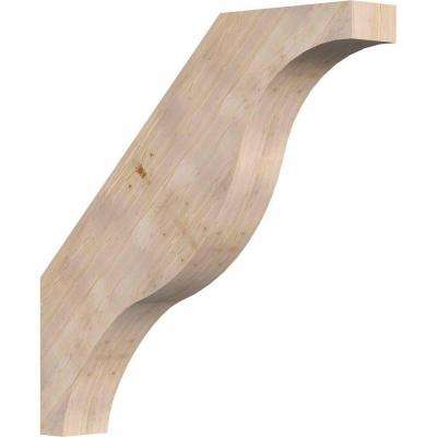 5.5 in. x 36 in. x 36 in. Douglas Fir Fuston Smooth Brace