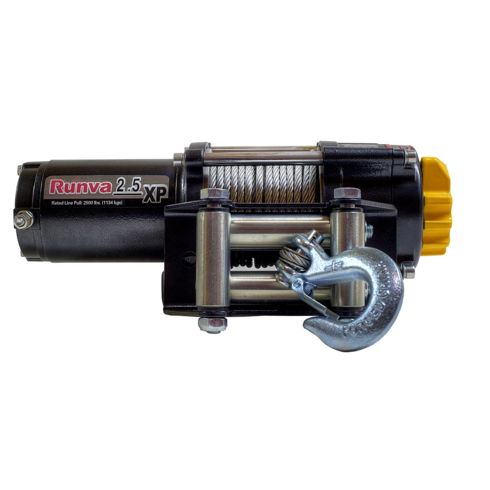 2,500 lbs. Capacity 12-Volt Electric Winch with 46 ft. St...