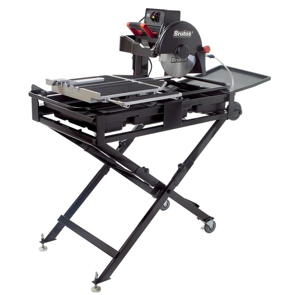 BRUTUS 24 in. Professional Tile Saw with 10 in. Diamond Blade and Stand