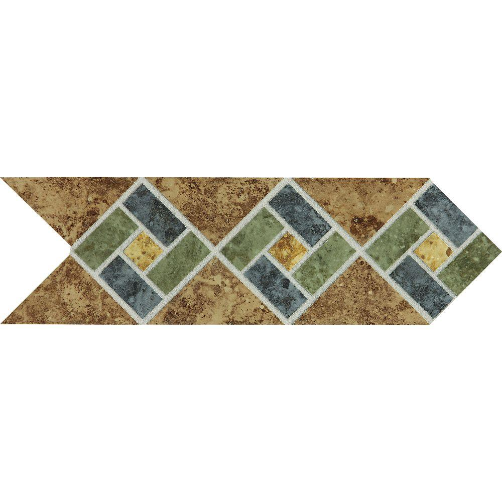 Daltile heathland sunset blend 4 in x 12 in glazed ceramic daltile heathland sunset blend 4 in x 12 in glazed ceramic decorative accent floor dailygadgetfo Image collections