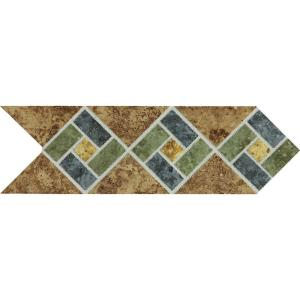 Daltile Heathland Sunset Blend 4 inch x 12 inch Glazed Ceramic Decorative Accent Floor and... by Daltile