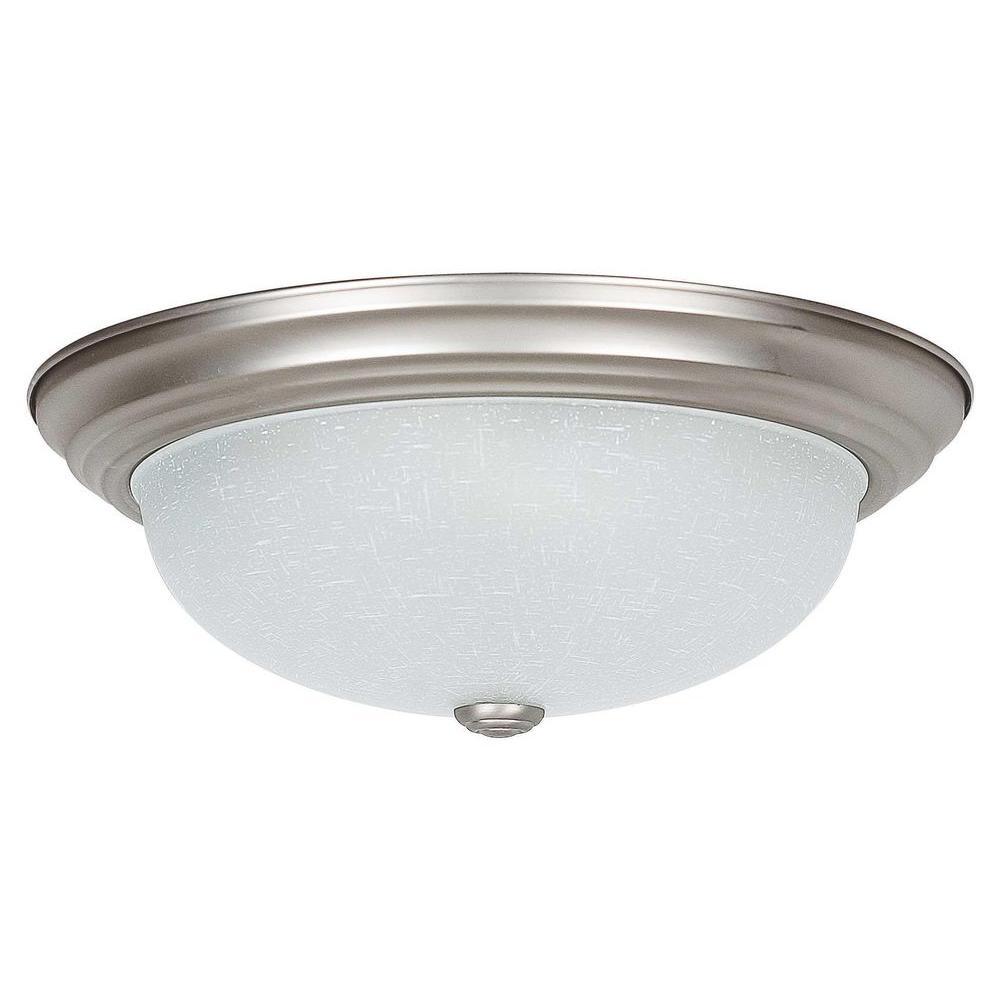 Bohanon 3-Light Satin Nickel Flushmount