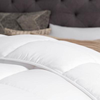Down Alternative Reversible Quilted Oversized King Comforter in White