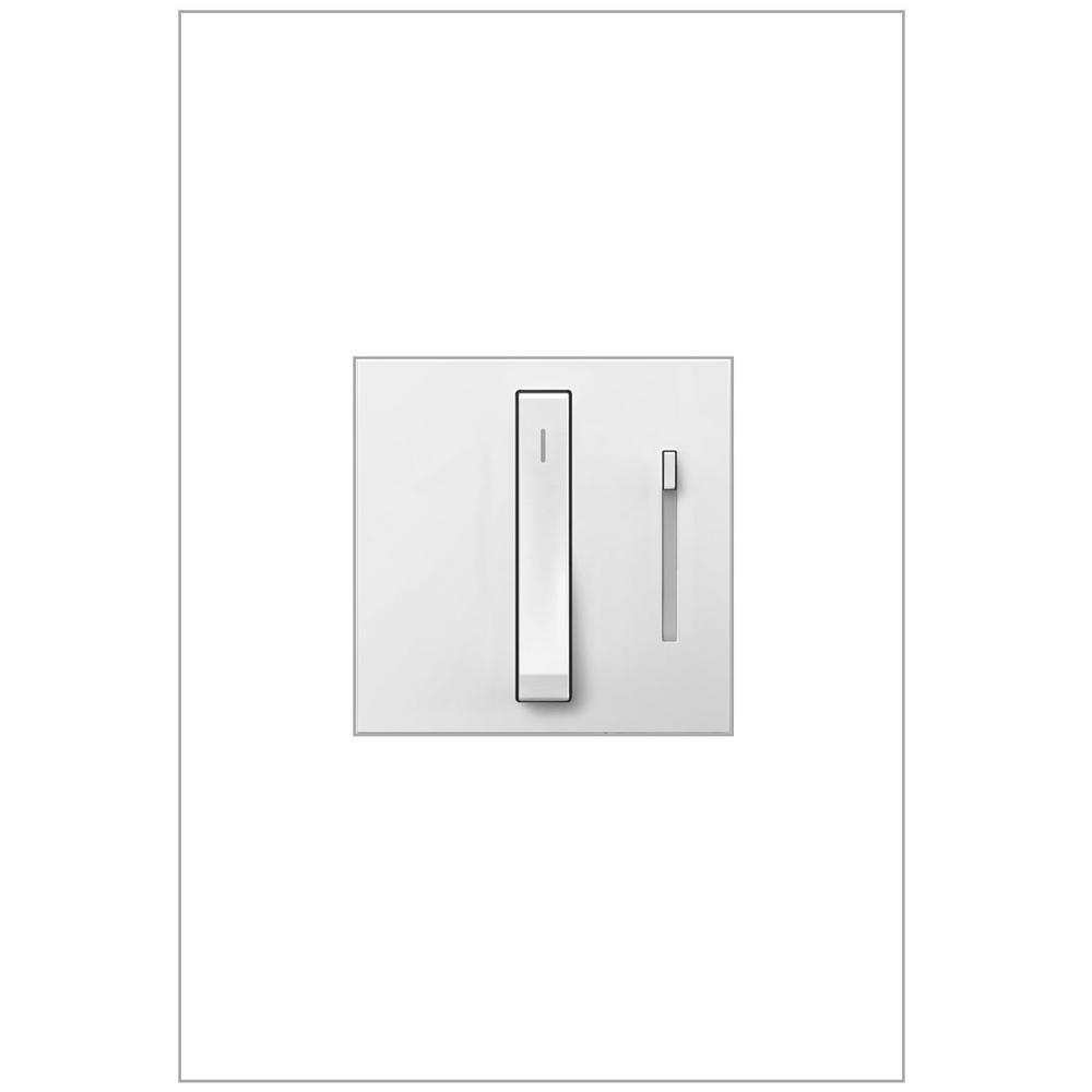Legrand adorne 700-Watt Single Pole 3-Way for Incandescent and Halogen Lights Whisper Dimmer - White