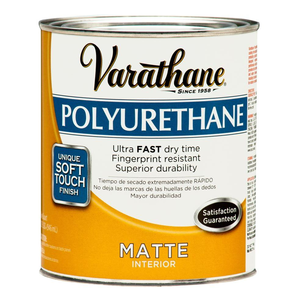 Varathane 1 qt matte soft touch polyurethane 266233 the home depot Oil based exterior paint brands