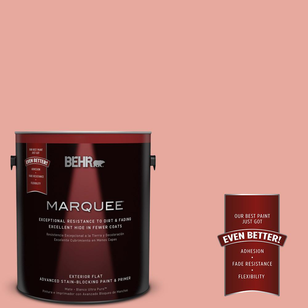 BEHR MARQUEE 1-gal. #M170-4 Passion Fruit Punch Flat Exterior Paint