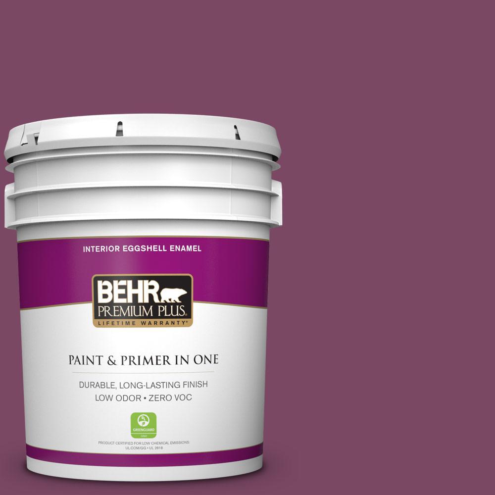 5 gal. #PPU1-19 Classic Berry Zero VOC Eggshell Enamel Interior Paint