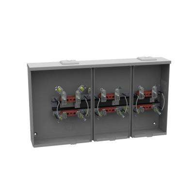 100 Amp 4-Terminal Position Ringless Overhead/Underground Horn Bypass 3-Position Side Wireway Gang Socket