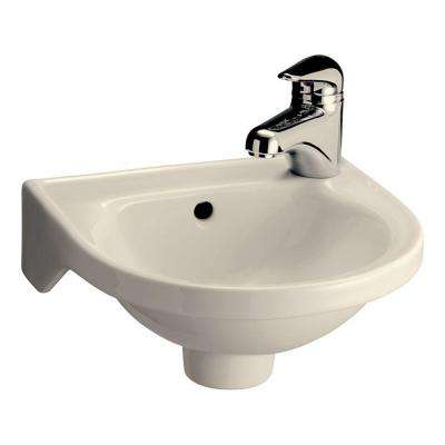 Rosanna Wall-Mounted Bathroom Sink in Bisque