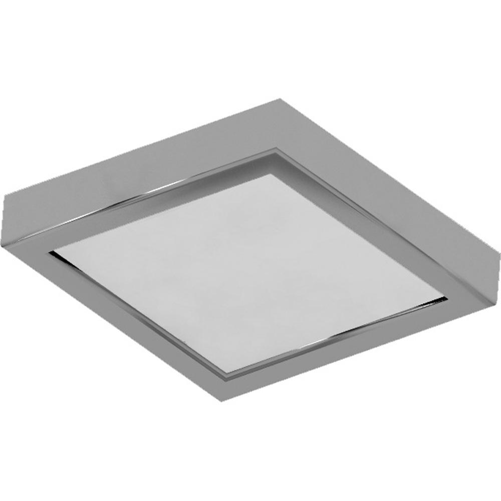 Volume Lighting 8 In 1 Light Brushed Nickel Led Indoor Mini Square Ceiling Flush Mount Wall Mount Sconce White Acrylic Square Lens