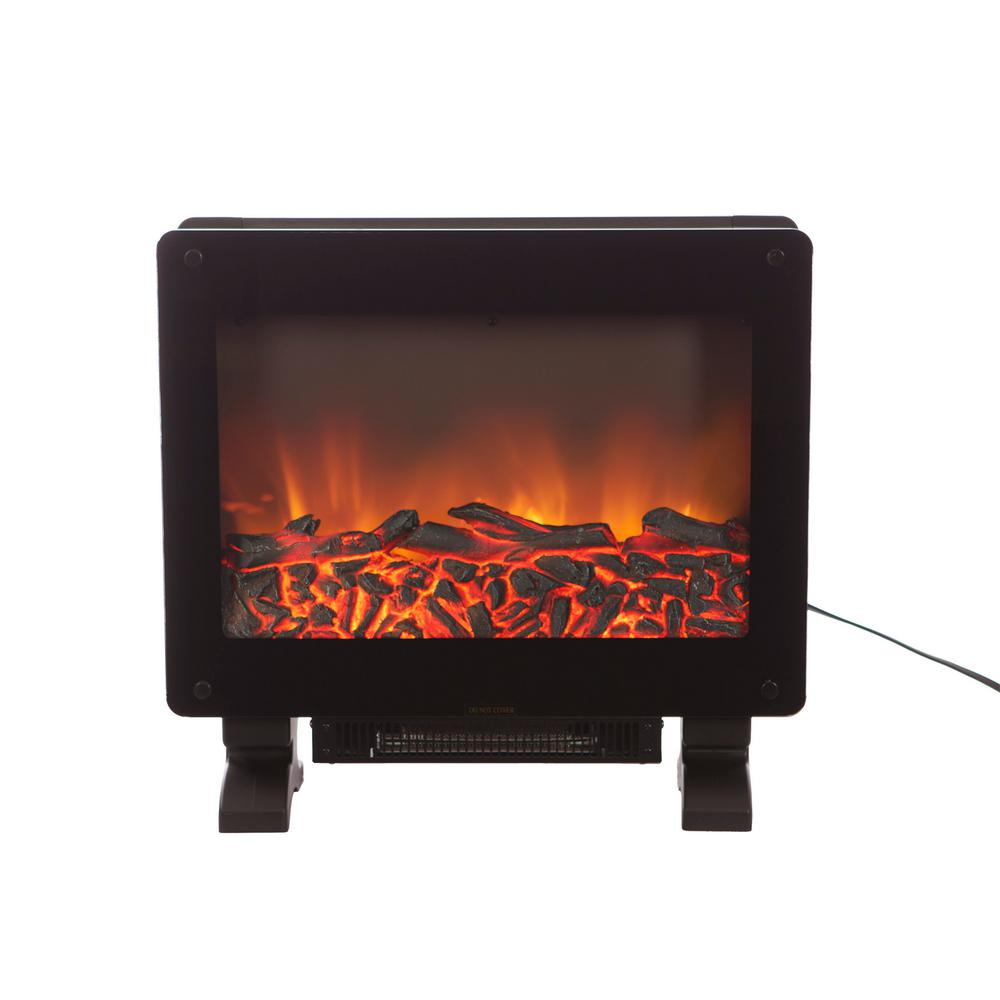 Elegante 21 in. Freestanding Electric Fireplace in Black