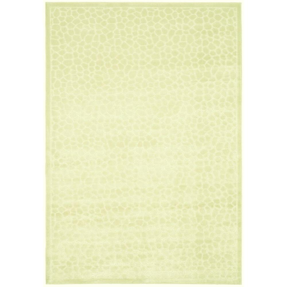 Martha Stewart Living Reptilian Cream 4 ft. x 5 ft. 7 in. Area Rug