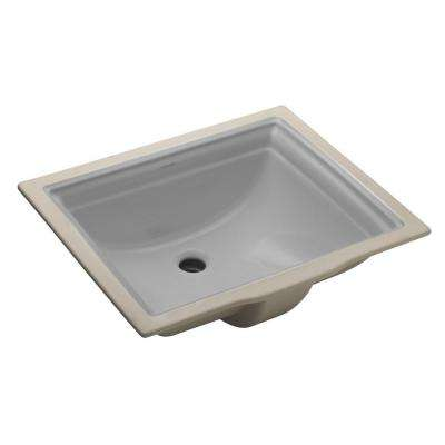 Memoirs Vitreous China Undermount Bathroom Sink in Ice Gray with Overflow Drain