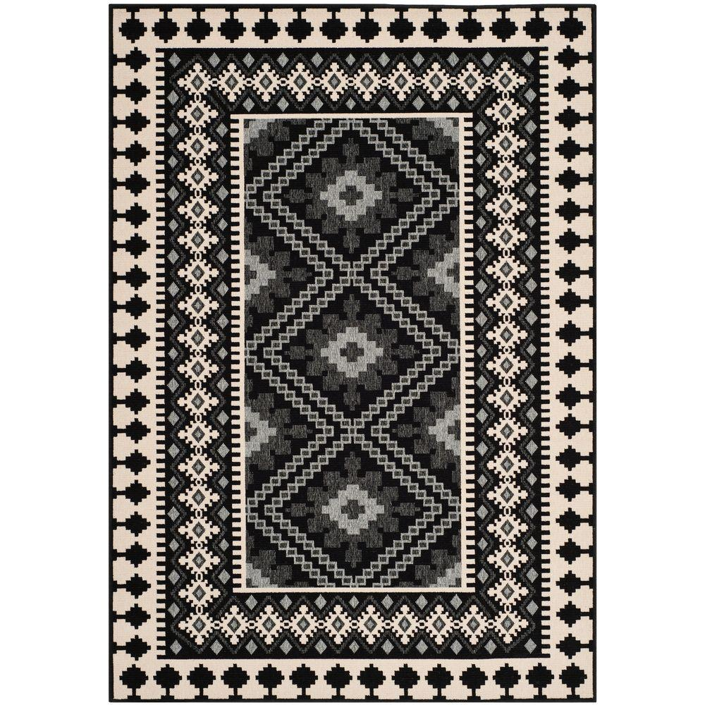 black and cream rug. This Review Is From:Veranda Black/Creme 7 Ft. X 10 Indoor/Outdoor Area Rug Black And Cream