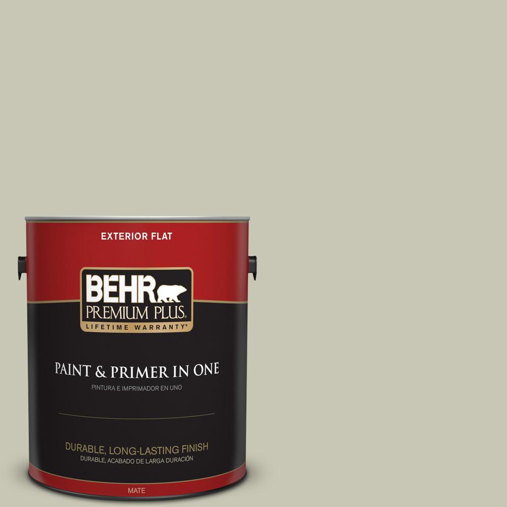 1 gal. #PPU10-10 Ocean Foam Flat Exterior Paint