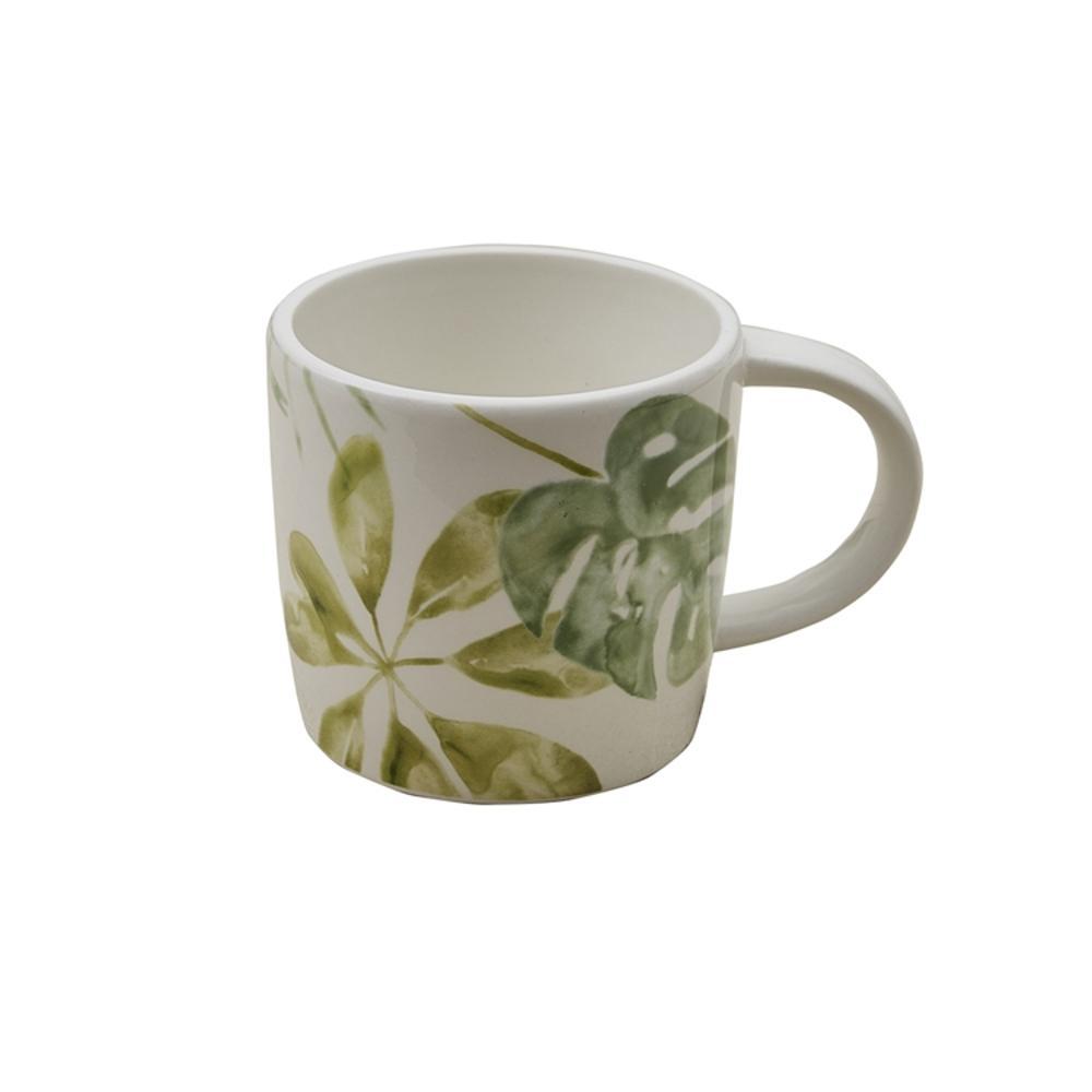 Island Medley 16 oz. Multicolor Ceramic Coffee Mug (Set of 4)