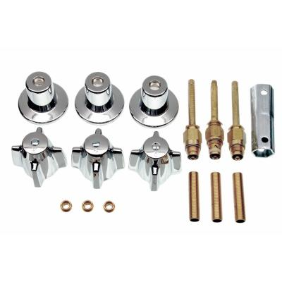 Tub/Shower 3-Handle Remodeling Kit for Central Brass in Chrome