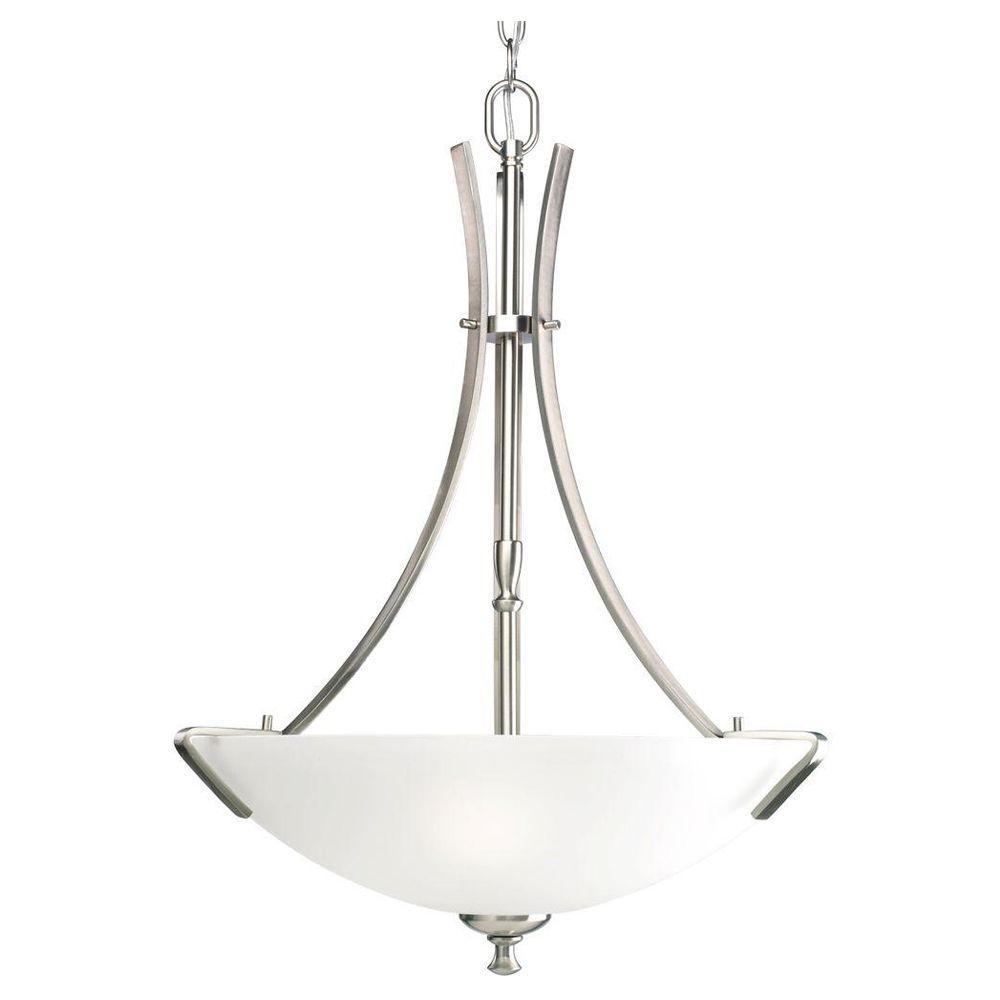 Progress Lighting Wisten Collection 3-Light Brushed Nickel Foyer Pendant