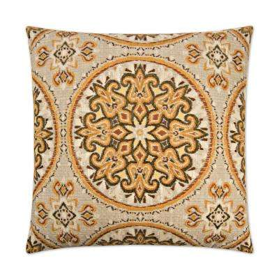 Akola Curry Feather Down 24 in. x 24 in. Standard Decorative Throw Pillow