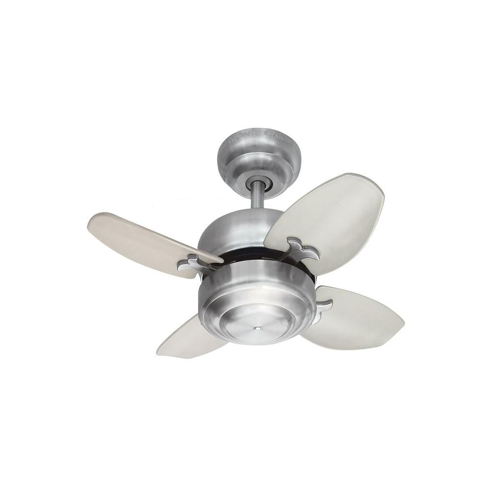 Monte Carlo Mini 20 - 20 in. Brushed Steel Ceiling Fan