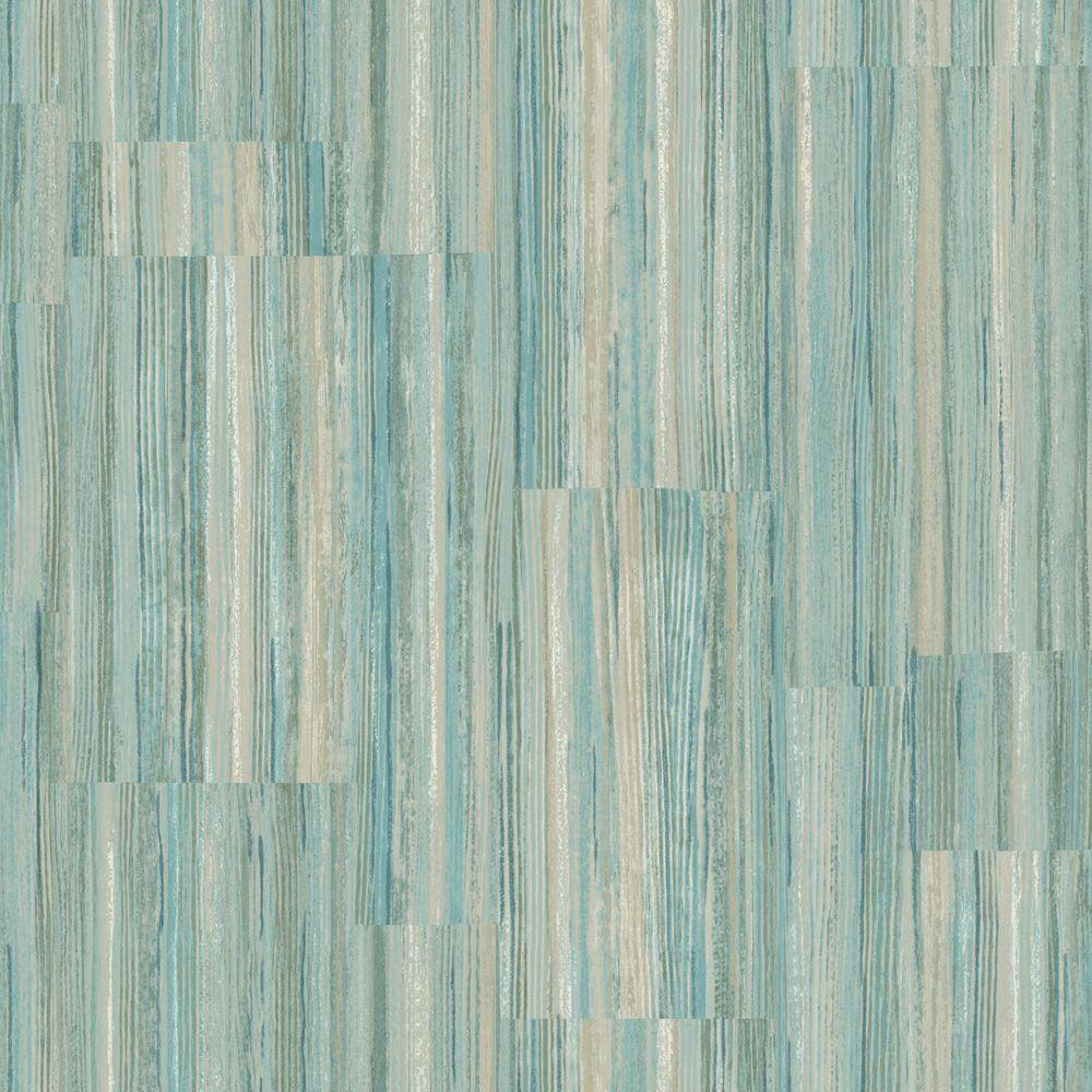 The Wallpaper Company 56 sq. ft. Pastel Patchwork Stripe Wallpaper