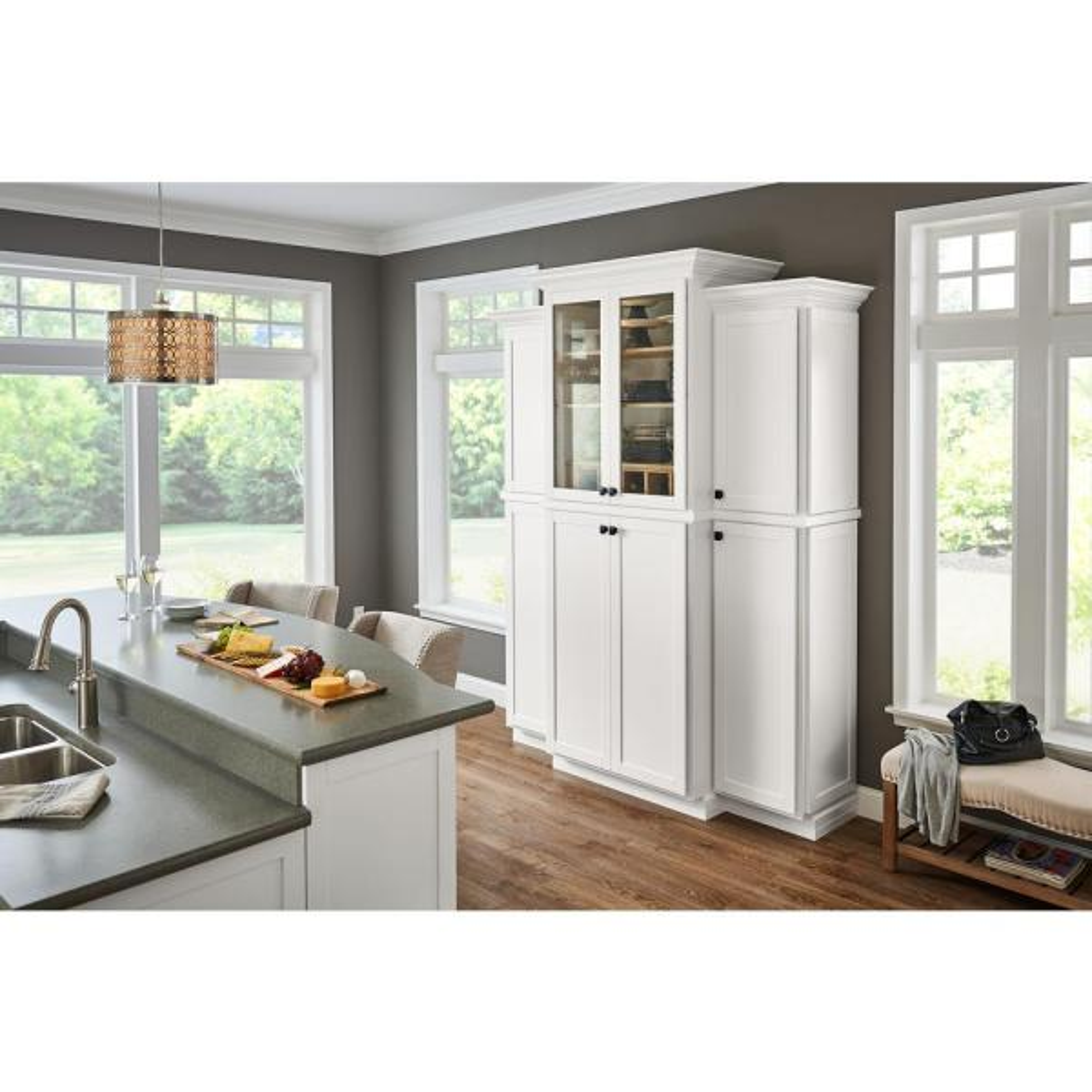 American Woodmark San Mateo 12 7 8 X 13 In Cabinet Door Sample In Linen 95373 The Home Depot