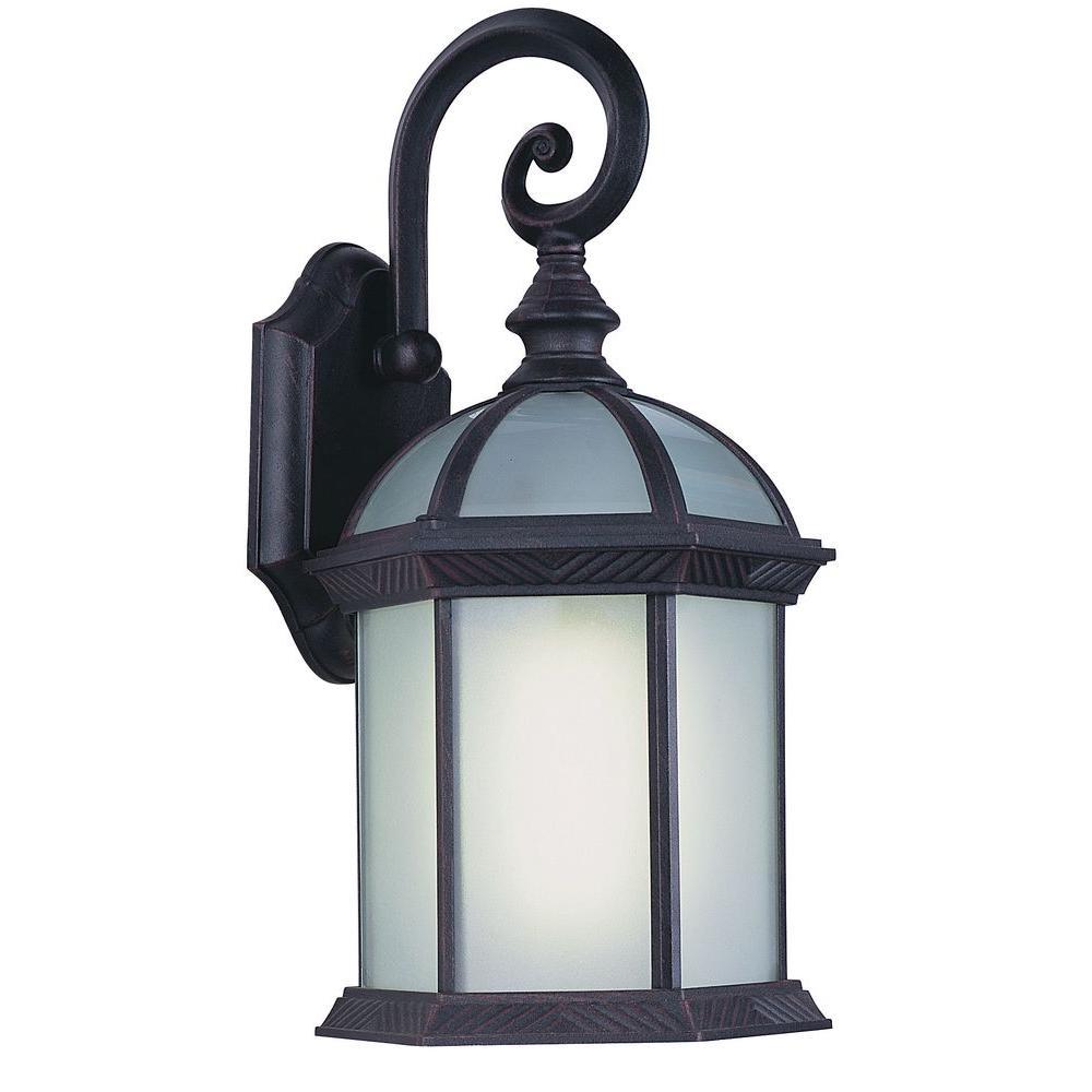Stewart 1-Light Black Outdoor CFL Wall Lantern