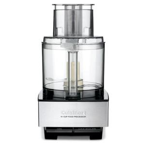 Custom 14-Cup 2-Speed Brushed Black Stainless Steel Food Processor with Pulse Control